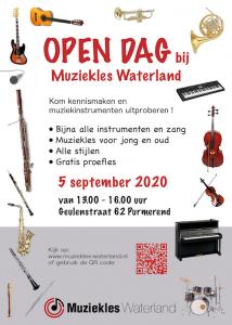 open dag muziekles waterland september 2020